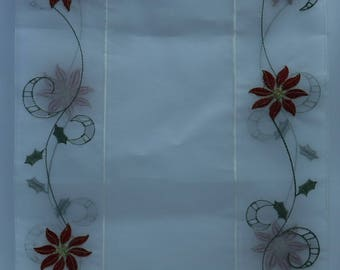 """Christmas Embroidered Table Runner (14""""x72"""")"""