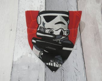 Star Wars Storm Trooper Dog Bandana, dog clothes, dog accessories, slip on bandana, pet accessories, detachable bandana, collar accessory