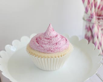 Glitter Dust Cupcake- Fake cupcake, prop cupcake, party decor