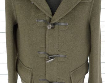 LONDON TRADITION Gloverall Type Duffle COAT Made in England Wool Toggle Jacket