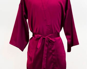 High Quality Satin solid color bridesmaid robe