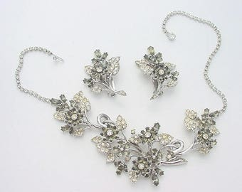 Vintage HATTIE CARNEGIE Trembler Necklace & Earrings Set - 576A