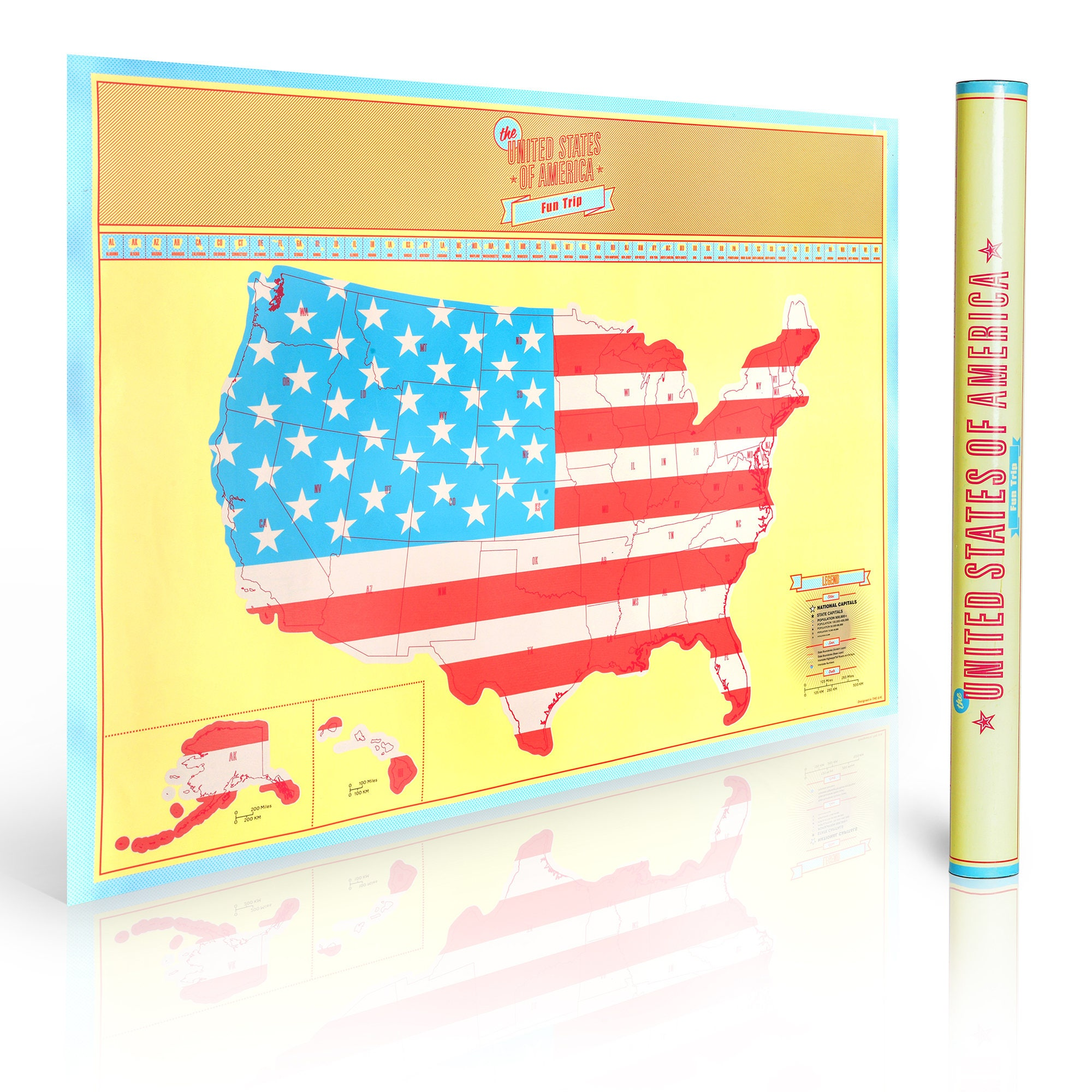 Scratch Off US Map Mark Your Travels And Vacations Around - Scratch off us state maps with pencil