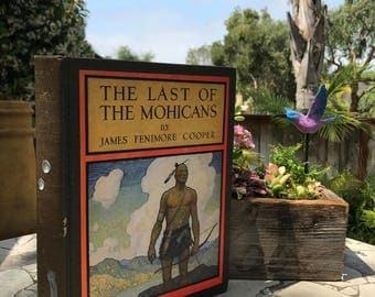 1924 The Last of the Mohicans, a Narrative of 1757 by James Fenimore Cooper and Illustrated by N. C. Wyeth - Rare!