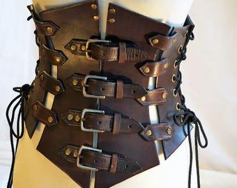 Handmade Leather Corset - Steampunk / LARP