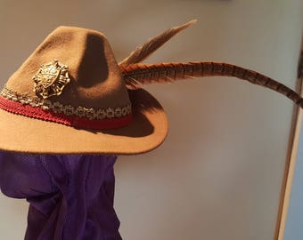 Renaissance Male Tall Hat , Hand Made