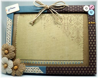 Blue and Brown vintage photo frames