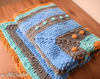 Crochet Blanket, Baby Blanket, Baby Shower, Throw, Soft Blanket, Bulky Blanket, Knitted Blanket, Baby Boy gift, Baby Girl gift, Nursery