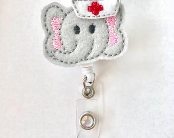 Pediatric Nursing Badge Reel - OBGYN - NICU - Labor and Delivery - Elephant Badge Reel - Animal Nursing Badge Reel - Nurse Badge Holder