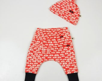 Baby gift set, coral sproutlet, organic baby clothes, gift for baby, baby shower gift