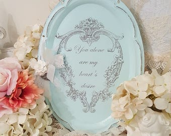 Shabby Metal Wall Hanging - Heart's Desire