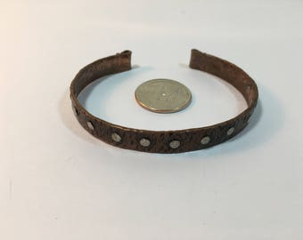 Hand Wrought Copper and SIlver Bracelet