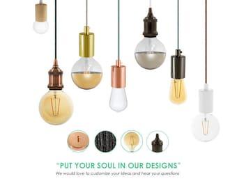 Single Pendant Lighting. Edison Lighting. Custom Lighting.