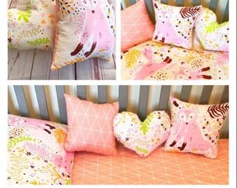 Cushions for girl's nursery and bedroom , decorative pillows for girls, nursery decor