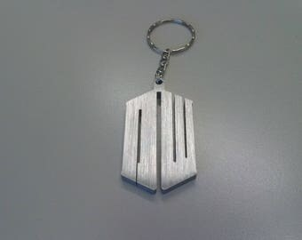 Tardis macchina del tempo, portachiavi Doctor Who, Tardis stilizzato in aluminum