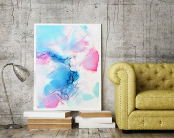 Abstract painting, Abstract art, Living room decor, Pastel Painting, fluid art, Modern art, wall art