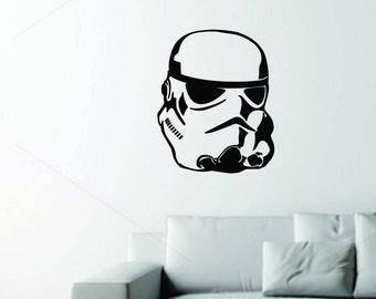 Stromtrooper helmet  Wall decal- Black matter Vynil