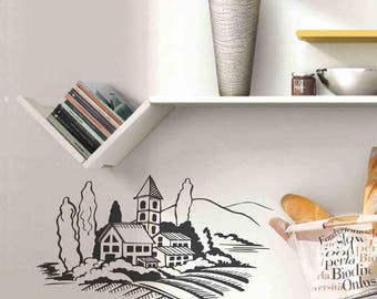 Village - Wall stickers, wall decals, wall decor, wall art, door stickers, kitchen stickers, kitchen decals, door decals, kitchen wall decor