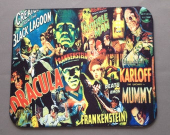 Universal Monsters Mouse Pad. Custom Made.