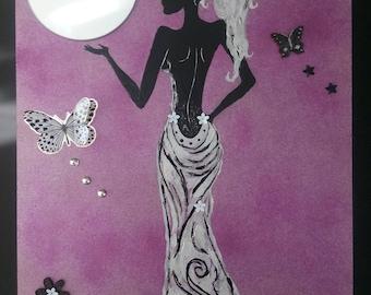 Table mirror elegant woman backless