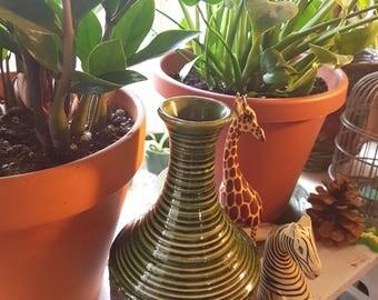 Green Fat Lava vase, mid Century Fat Lava vase, West German Fat Lava pottery, vintage Fat Lava ceramics 1970