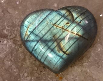 Labradorite blue 27, 80 Gr - heart