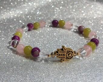 Firework/ self-love healing gemstone bracelet