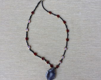 kore necklace // gifts for her // one of a kind // amethyst // purple // pendant
