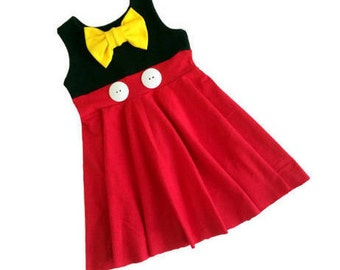 Girls dress - minnie mouse inspired