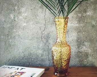 Vase en verre jaune - Yellow Glass Vase