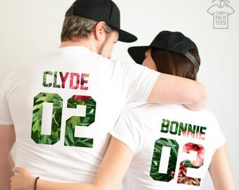 Bonnie and Clyde shirts couple t shirt couple tees Bonnie and Clyde couple shirts funny matching couple shirts wedding gift anniversary gift