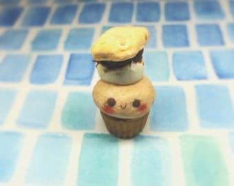 Handmade Polymer Clay S'mores Cupcake Charm