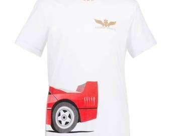 FLASH SALE!! Ferrari F40 T-Shirt, Ferrari T-Shirt, Classic Car T-Shirt, Supercar T-Shirt