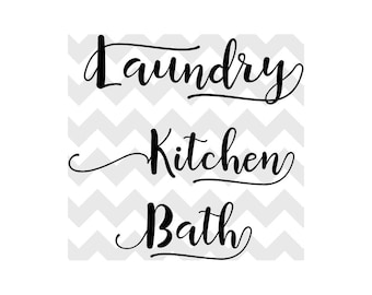 Kitchen SVG | Laundry svg | Bath SVG | Home svg bundle | Laundry svg Cutting Files | Silhouette Cricut svg | Typography svg