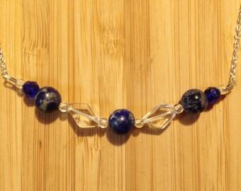 Lapis Lazuli & Quartz Necklace