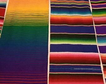 Rainbow mexican blanket
