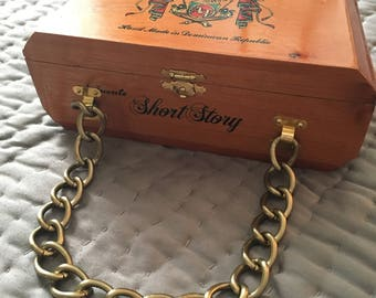 Short Story Cigar Box Purse