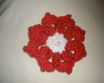 Crochet cotton flower