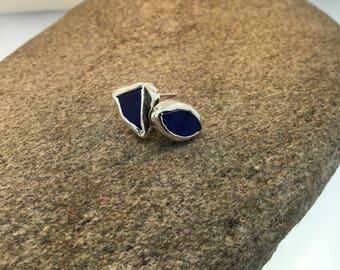 Sea Glass Post Earrings