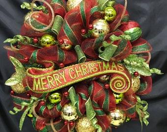 """24"""" Merry Christmas Wreath. 04251701"""