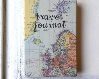 Map journal etsy a5 vintage world map travel journal ruled notebook hardback 200 pages gumiabroncs Choice Image