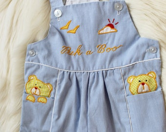 Vintage Baby Overalls - Peek a Boo