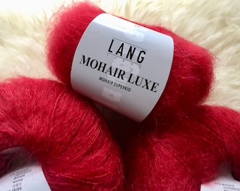 Mohair Yarn, Lang Yarns, Mohair Luxe, Superkid Mohair and Silk, 25 Grams, Lace Weight Mohair, Color 0060