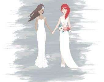 LGBT Couple Wedding portrait