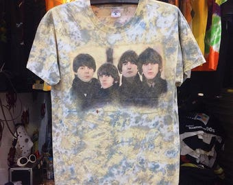 Vintage 1996 The Beatles Shirt Size L Free Shipping 90s The Beatles Tie Dye Shirt