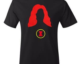 Minimalist Black Widow Shirt - Marvel Shirt- Comic Shirt - Superhero Shirt - Black Widow Shirt