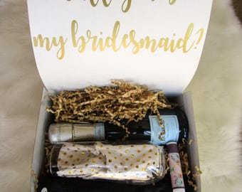 Bridesmaid gift- will you be my bridesmaid, Bridesmaid Box, bachelorette personalized gift, gift for her, bridesmaid tanktop