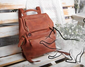 Leather backpack women,brown leather backpack women,leather backpack women large,vintage leather backpack women,Women's backpack leather