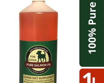 1 Litre 100% Pure Salmon Oil for Dogs