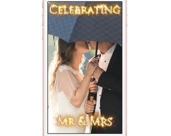Snapchat Celebrating Mr and Mrs Wedding Sparkle Geofilter, Sparkle Photo filter, Snap chat Filter, Wedding filter, Wedding Geofilter,